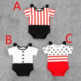 e4b6bb12d7 Summer Baby Mickey Bodysuits Rompers Infants Toddlers Striped Contrast  Color Onesies Rompers Babies Cotton Short Clothes Jumpsuits For 0-2T