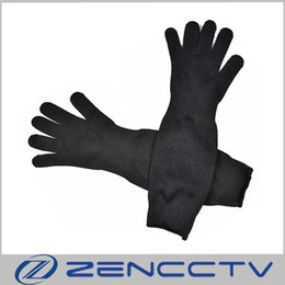 Chinese  Lengthening Safety Work Gloves Stab Proof Anti Cut Knife Resistant Stainless Steel Wire Self Defence Protective Glove Stabproof manufacturers