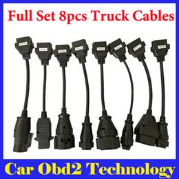 En iyi Fiyat TCS CDP PRO CDP Tarayıcı Için Kamyon Kabloları Tam Set OBD2 Teşhis Kablolar Kamyon Kabloları Ücretsiz Kargo