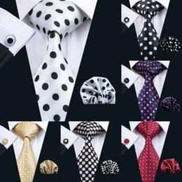 Cravatta in seta stile set Polka Dots Set Cravatta all-ingrosso in cravatta Hanky Classico Cravatta in jacquard in seta per uomo Set 8,5 cm Larghezza Business