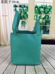 Großhandel Top Leder Food Basket Housewife neuesten Einkauf lässig Taschen langlebig Taschen 20 Farben personalisierte Mode 18x22cm Neupreis versandkostenfrei