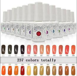 gelish gel nail polish colors 2019 - 2016 New arrival 237 colors Harmony gelish SOAK-OFF GEL POLISH Nail Gel 100 pcs lot DHL free cheap gelish gel nail polis