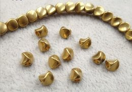 Fancy Beads Canada - 50pcs lot 4.5mm Brass spacer beads Fancy shilly beads for bracelets DIY jewelry accessories