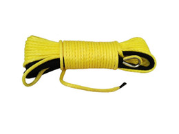 """Chinese  Wholesale-Yellow 3 16""""*50ft Synthetic Winch Rope for Car Accessaries,Boat Winch Rope,Plasma Rope manufacturers"""