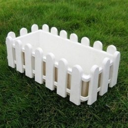 Gardening Plastic Pots Canada - Rectangular plastic resin fence hydroponic vegetables balcony flowerpot Nursery Pots Garden Use Plastic Flower Plants Pot