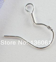 $enCountryForm.capitalKeyWord NZ - 300Pcs lot 925 Sterling Silver Earrings Finding French Ear Hook Clasp Charms Earring Wires Fit Jewelry Findings 15mm NEW Finding Earhooks