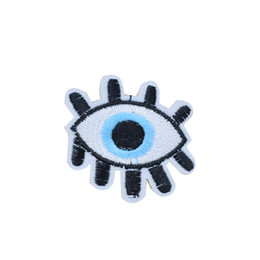 Transferencias De Hierro Para Niños Baratos-10PCS Cartoon Eyes Parches para Ropa Bolsas de Hierro en Transferencia Apliques Parche para Niños Pantalones Vaqueros DIY Coser Bordado Insignia
