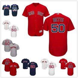 a4c1e84cfda ... Men Boston Red Sox Jerseys 50 Mookie Betts Jersey Flexbase Cool Base  Home Away White Red ...