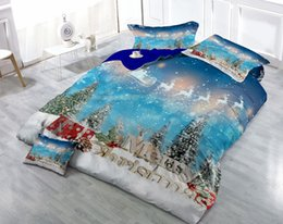 customized bedding sets Australia - Custom Drawings Can be Customized 3D Christmas Gift Cotton Satin 4-Piece Duvet Cover Sets Bedding Sets