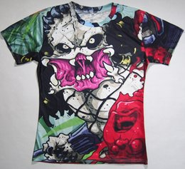 $enCountryForm.capitalKeyWord Australia - The Latest Trend Of Digital Printing Body Blood 3D Printing Horror Skull Vampire T-Shirt Sports Tops Hip Hop For Men And Women