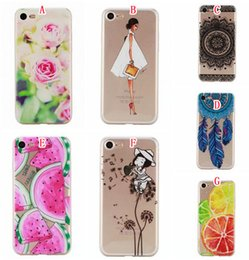 $enCountryForm.capitalKeyWord Canada - Fruit Watermelon Lemon TPU Soft Case For Iphone 6 6S Plus 7 I7 SE 5 5S Huawei P9 Lite Transparent Mandala Flower Cat Girl Phone Cover Skin