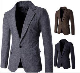 british clothing for men 2019 - Business Casual Clothes For Plus Size Men Suits British Brife Wild Men Blazers Winter Personalize Cotton Men Blazers Coa