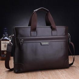 f9325b7ef1af Brown Canvas Briefcase Bag Canada - 2016 mens vintage pu leather briefcases  messenger documents handbag cross