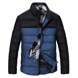 Barato Parkas Inverno Europeu-Outono-Europeu Brand Winter Men's Color Block Patchwork Cotton Parkas Coat Novo 2015 Outono Moda alta qualidade Thick Warm Outerwears