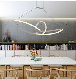 Modern Acrylic Led Pendant Light Hanging Lamp Suspension Chandeliers Livingroom Indoor Lighting Fixture Mobius Strip
