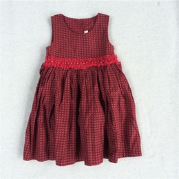 $enCountryForm.capitalKeyWord NZ - New Arrival Baby Dress Printed Flower Dresses Corduroy Dresses Size 3Y-7Y Cute Baby Girls Skirts Cotton 100% Fast Shipping