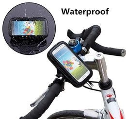 Bike Bags for iphone online shopping - Universal Waterproof Bicycle Bike Handlebar Mount Holder Bracket Bag Case For Samsung S6 S7 Edge Mega iPhone S Plus HTC Sony Huawei