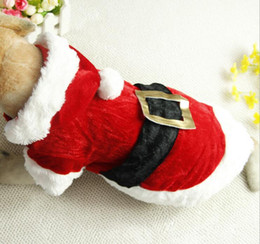 $enCountryForm.capitalKeyWord UK - Christmas Dog Costume Santa Claus Pet Cat Clothes Costume Winter Coat Apparel Cotton Clothing for dogs ropa para perros MT-026