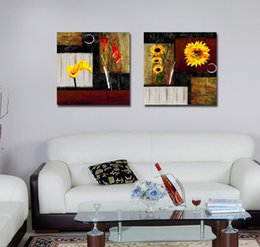 $enCountryForm.capitalKeyWord Canada - Contemporary Beautiful Flower Painting Giclee Print On Canvas Home Wall Decoration Art Set20043