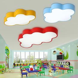 Discount Kids Bedroom Lighting Fixtures LED Cloud Kids Room Lighting  Children Ceiling Lamp Baby Ceiling Light