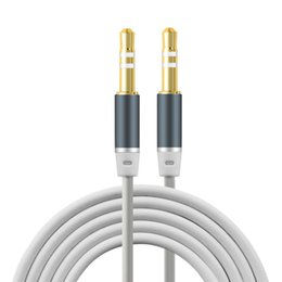 China Newest design 3.5mm Jack Audio Cable Gold Plated Jack 3.5 mm Male to Male TPE Audio AUX Extension Cable For iPhone Car Headphone Speaker suppliers