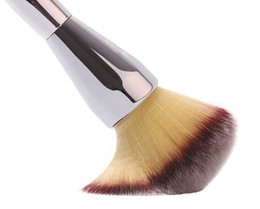 high quality 20pcs lot Ulta Silver Metal Handle Synthetic Hair It NO. 211 Loose Powder Makeup Brushes Free shipping