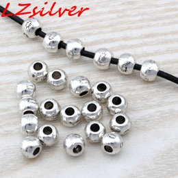 China MIC 200PCS Antique silver Zinc Alloy Bali Style Round Spacer Bead 7x6mm DIY Jewelry D18 cheap wholesale silver bali suppliers