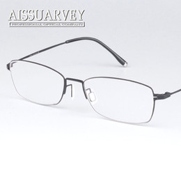 efce18ac1b8 Wholesale- Vintage classic Full rim pure titanium optical prescription  clear eye glass eyeglasses frame for man and women ultra light
