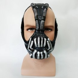 Discount bane costume Batman:The Dark Knight Rises Bane Dorrance Mask Adult Men Cosplay Prop Costume Helmet