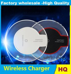 $enCountryForm.capitalKeyWord Canada - Qi Wireless Charger Pad Power Fast Charging for Samsung Galaxy S6 S6 Edge S7 S7 Edge s8 plus with Retail Box