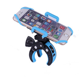 Bike Cradle Canada - Universal Bike Bicycle Mount Handlebar Smartphone Holder Cradle for iPhone 6 6s SE with Security Band for iphone 6s for Samsung