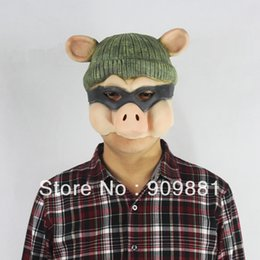 $enCountryForm.capitalKeyWord Canada - Cartoon GG Bond Pig Latex Mask Full Head Halloween Animal Pig Swine Rubber Masks Masquerade Costume Fancy Cosplay Party Props