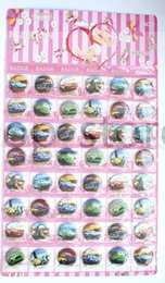 lanyard pins NZ - Lot 48 Pcs Classic 40mm Cars Badge Button Pins Children Party Gifts Pins Party Gifts