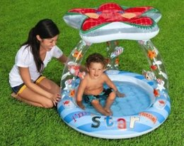 $enCountryForm.capitalKeyWord Canada - Inflatable Bottom Swimming Pool Starfish Sunshade Paddling Pool Bathtub Sandpit Sea Pool for Baby Infant Summer Outdoor Play