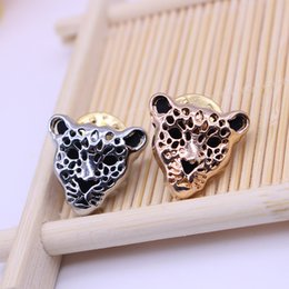 $enCountryForm.capitalKeyWord Canada - Unisex Lots 12 Pcs Leopard Head Brooch Animal Brooch Fashion Apparel Gadgets Leopard Head Shirt Men Jewelry