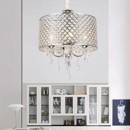 Vintage black iron chandelier online shopping - Nordic American crystal chandelier lighting k9 led chandelier iron art Living room dining room bedroom light Modern
