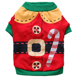 Chihuahua Halloween Costumes Canada - Christmas Pet Costume Santa Claus Clothes Halloween Pet Clothing Cotton Small Dog Chihuahua Teddy Clothes 5pcs Lot Free Shippinng