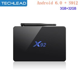 android smart tv box dhl NZ - 5pcs DHL X92 Android TV Boxes 3GB RAM 32G Amlogic S912 Octa Core Streaming Media Player Smart 5.8G 4K WIFI Set Top Box Bluetooth BT