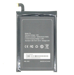 Chinese  6250mAh   23.75Wh T6   HT6 Replacement Li-Polymer Battery For Homtom HT6 & DOOGEE T6 T6 PRO Smart Mobile Cell Phone Battery manufacturers