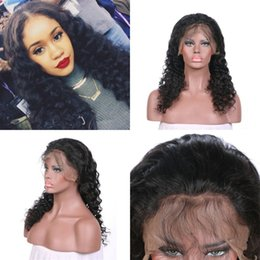 lace front wig human hair 28 Australia - 130% Density Deep Wave Lace Front Wigs With Baby Hair Pre Plucked Brazilian Human Hair Lace Wigs FDSHINE HAIR