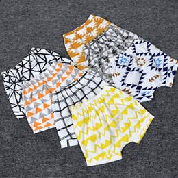 Discount girls panda pants - 27 Styles INS Baby Shorts Toddler Girls Boys Casual PP Pants Animal panda fox geometric figure fruit Pattern Children Sh