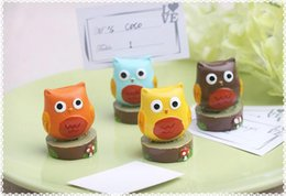 $enCountryForm.capitalKeyWord Canada - Wedding Party Gifts Party Favors Cute Owl Place Card Holders Party Supplier 20pcs lot Free Shipping