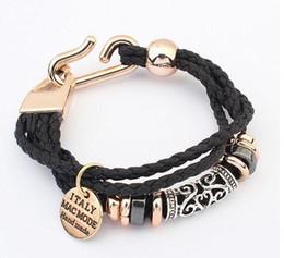 $enCountryForm.capitalKeyWord NZ - Fashion new Punk Gothic Rock Leather Rivet Stud Spike Bracelet Cuff Bangle Wristband for women and men