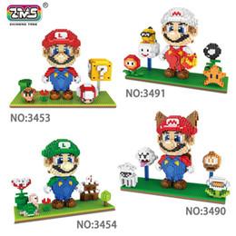 Vente en gros 2200 + PCS diamond Taille Anime Figure Mario et son frère Louis famille Blocs de construction Jouets Briques DIY avec base d'affichage
