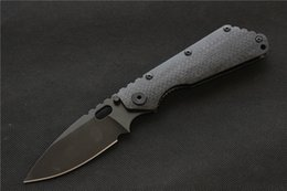 Discount knives ship free - Free shipping,ST SMF carbon fiber Titanium handle D2 blade Copper washers Folding Knife hunting outdoor Tactical Knives
