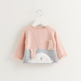$enCountryForm.capitalKeyWord Canada - sping and autumn baby girls sweater Lovely Bunny Color-block Knit Sweater for Baby and Toddler Girls kids clothing