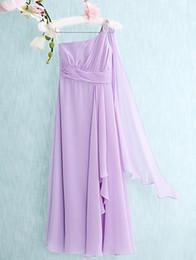 $enCountryForm.capitalKeyWord Canada - Latest Floor-length Chiffon A-line Column One Shoulder Junior Bridesmaid Dresses Cheap Shoulder Beaded Floor Length Sleeveless Dresses