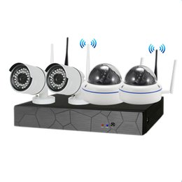 wireless camera ip nvr UK - 4CH CCTV System Wireless 720P NVR 4PCS 1.0MP IR Outdoor indoor P2P Wifi IP CCTV Security Camera System Surveillance Kit