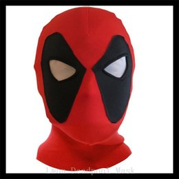Discount deadpool quality costume Top Quality Halloween Movie Cosplay Unisex Deadpool Mask Cosplay Costume Headwear Adult Mask halloween Gift one size adj