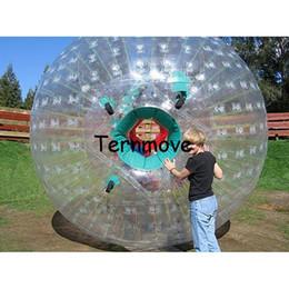 Großhandel Zorb Ball 3M Durchmesser menschlichen Hamster Kugeln 0,8 mm PVC-Material rollen menschlichen Hamster Aqua Zorbing Ball Land Gras Zorb Bälle